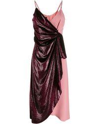 Pinko Платье С Запахом И Контрастной Вставкой - Многоцветный