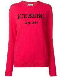 Iceberg - Cashmere Logo Jumper - Lyst