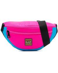 EA7 - Colour-block Belt Bag - Lyst