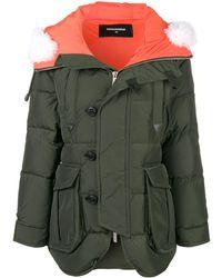 DSquared² Oversized Padded Coat - Green