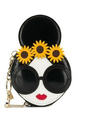 Alice + Olivia Stace Face Coin Wallet - Black