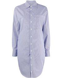DSquared² Pinstripe Shirt Dress - White