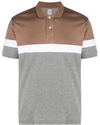 Eleventy カラーブロック ポロシャツ - ブラウン