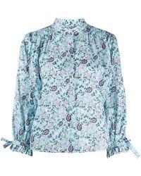Rebecca Minkoff Isha Floral-print Top - Blue