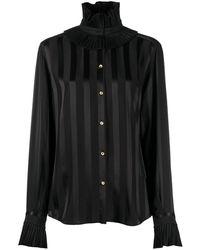 Dolce & Gabbana Полосатая Рубашка - Черный