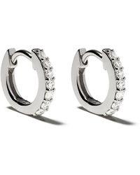 Astley Clarke 14kt Gold Mini Halo Diamond Hoop Earrings - Metallic