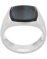 Tom Wood Small Stone Ring - Metallic