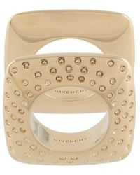 Givenchy Set Of 2 Graphic Rings - Metallic