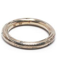 Werkstatt:münchen Textured-effect Finger Ring - Metallic