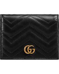 Gucci Porte-cartes GG Marmont - Noir