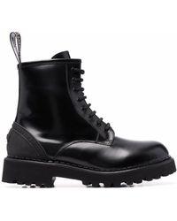 Karl Lagerfeld Troupe レザーブーツ - ブラック