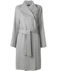 JOSEPH Double Breasted Robe - Grey