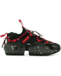 Jimmy Choo - 50mm Diamond Mesh & Suede Sneakers - Lyst