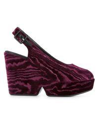 Clergerie - Platform Open Toed Sandals - Lyst
