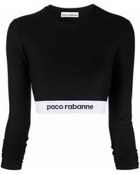 Paco Rabanne - ロゴ クロップドトップ - Lyst