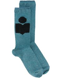 Isabel Marant Cupro Socks - Blue
