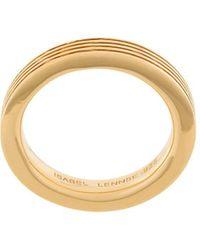 ISABEL LENNSE 4x2 Ribbed Band Ring - Metallic