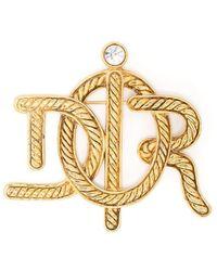 Dior Broche à logo (années 2000) - Métallisé