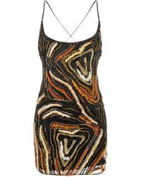 Versace Платье Мини С Вышивкой Virtus Animalier - Черный