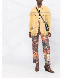 Etro Куртка С Геометричной Вышивкой И Бахромой - Желтый