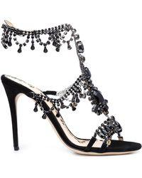 Marchesa - Grace Suede Sandals - Lyst