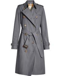 Burberry De Lange Kensington Heritage Trenchcoat - Grijs