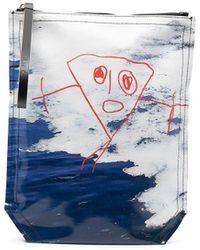 Plan C Pochette imprimée - Bleu