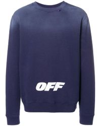 f06997d3a Off-White c/o Virgil Abloh - Faded Logo Sweatshirt - Lyst