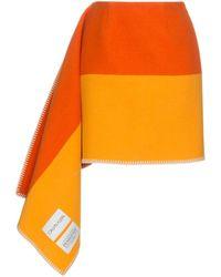 CALVIN KLEIN 205W39NYC ブランケット スカート - オレンジ