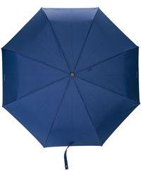Moschino Regenschirm mit Nadelstreifen - Blau