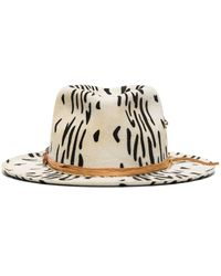 Nick Fouquet Fedora Zeal con stampa - Bianco