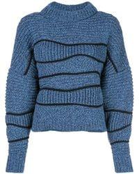 Maison Ullens Chunky Knit Jumper - Blue