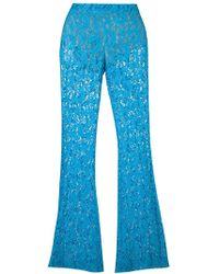 Moschino Flared Lace Trousers - Blue
