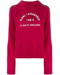 Karl Lagerfeld - Address Logo パーカー - Lyst