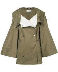 Teija Oversized Jacket With Large Flared Sleeves - Green