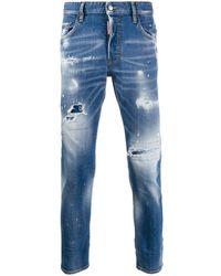 DSquared² Jeans Met Vervaagd Effect - Blauw
