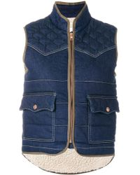 See By Chloé Quilted Gilet - Blue