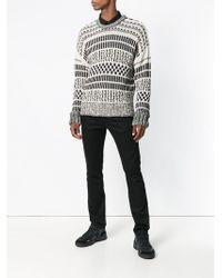 AMI Oversized Sweater Met Ronde Hals - Zwart