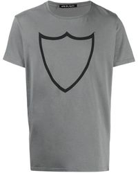 Htc Los Angeles Slim-fit Logo T-shirt - Grey