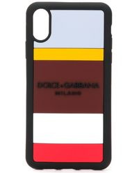 Dolce & Gabbana Striped Iphone Xr Case - Black