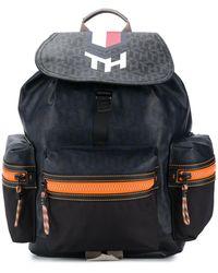 Tommy Hilfiger Monogram Flap Backpack - Blue