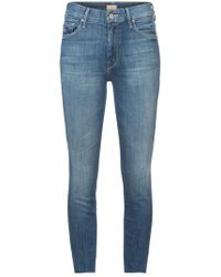 Mother - Frayed Skinny Jeans - Lyst
