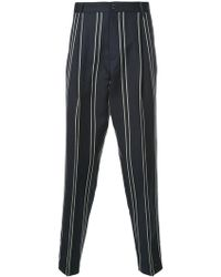 Tomorrowland - Striped Tailored Trousers - Lyst