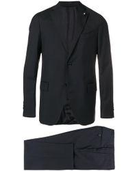 Lardini ツーピース スーツ - ブラック
