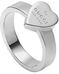 Gucci Heart Ring With Trademark - Metallic