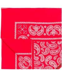 Off-White c/o Virgil Abloh Bandana à motif graphique - Rouge