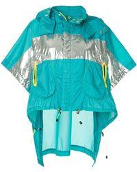 Kolor Metallic Panelled Jacket - Blue