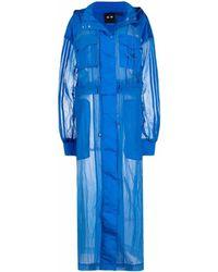 adidas X Ivy Park ロングライン トレンチコート - ブルー