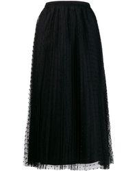RED Valentino ポルカドット スカート - ブラック