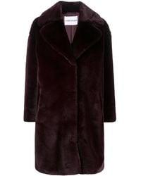 Stand Studio Faux-fur Single-breasted Coat - Purple